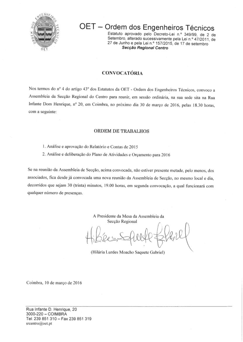 AG Convocatória