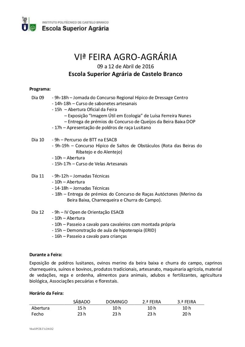 Programa Feira 2016
