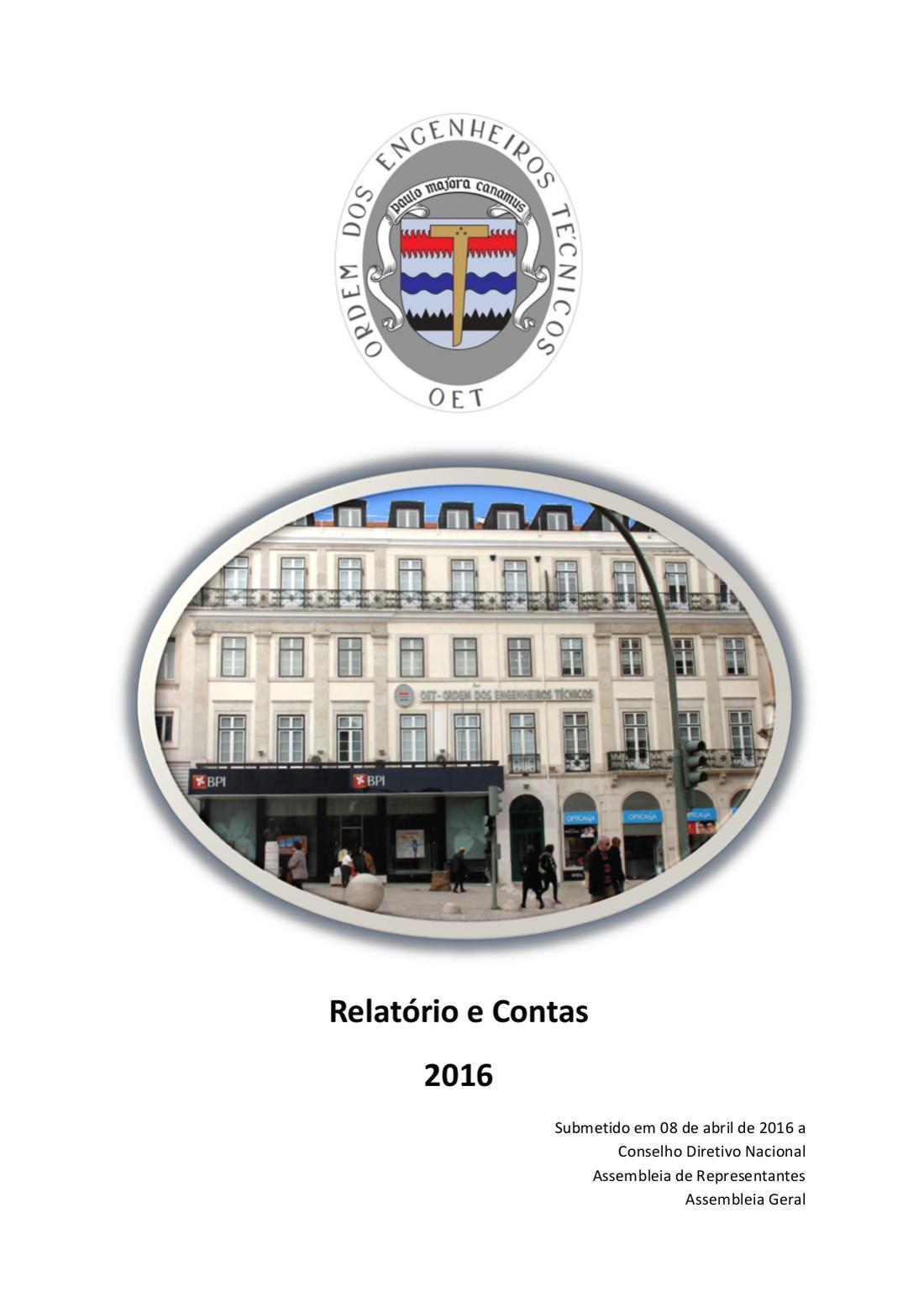 imagem de capa do relatório de contas