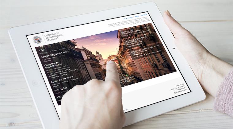 imagem de apresentação do novo website