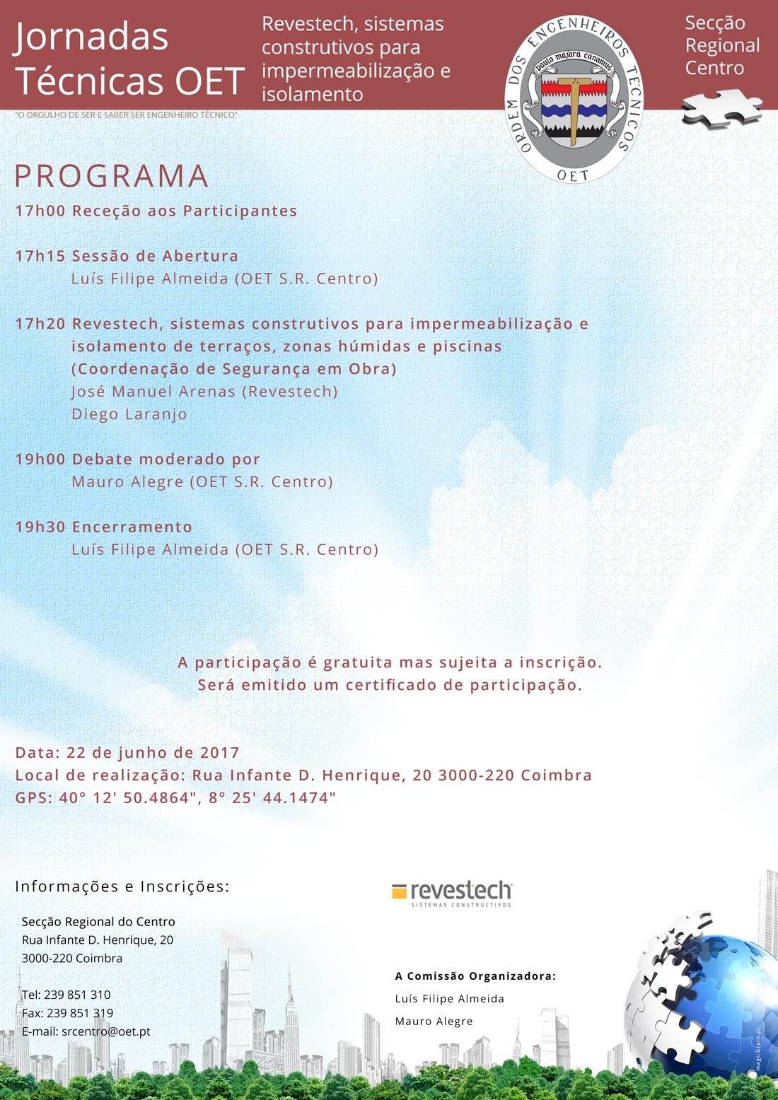 cartaz do evento com o programa